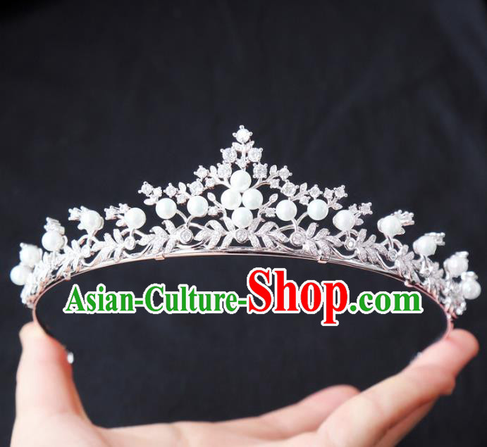 Top Grade Wedding Hair Accessories Hair Clasp Bride Crystal Royal Crown for Women
