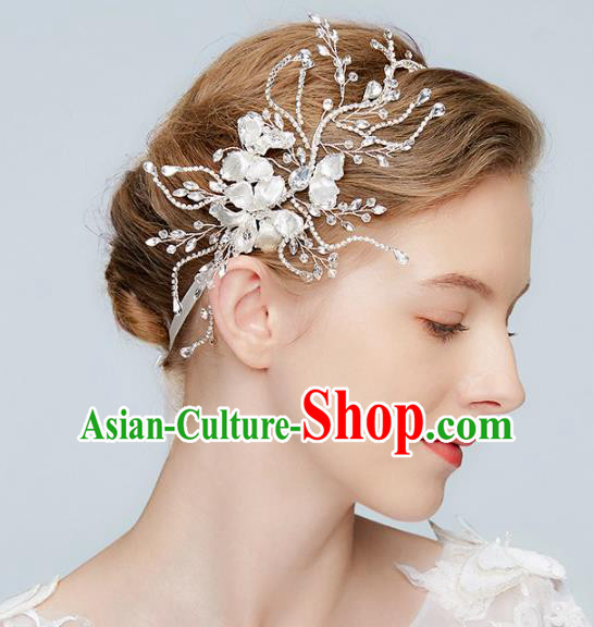 Top Grade Wedding Bride Hair Accessories Princess Crystal Hair Clasp Headwear for Women