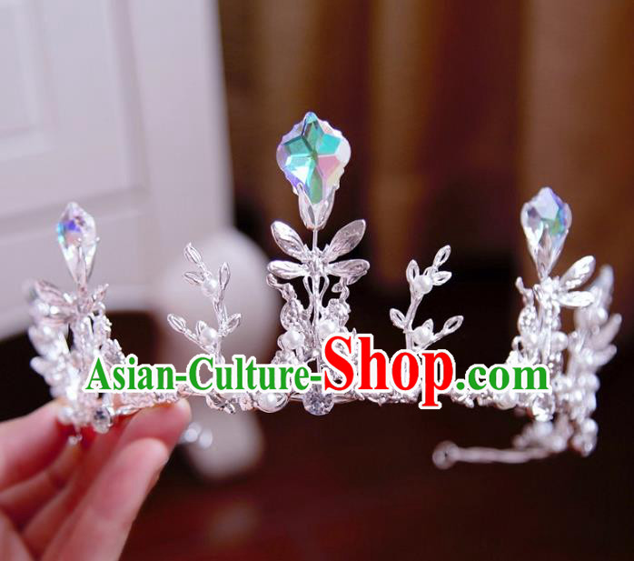 Top Grade Wedding Bride Hair Accessories Princess Hair Clasp Dragonfly Royal Crown for Women