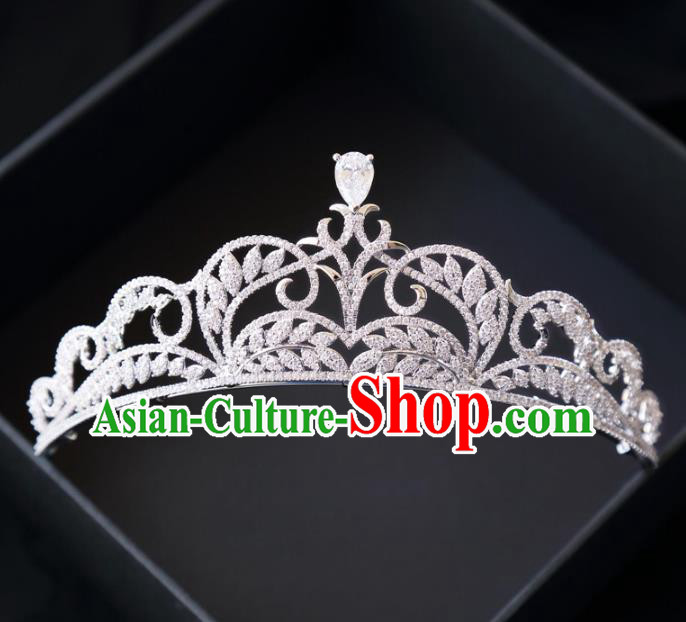 Top Grade Wedding Bride Hair Accessories Princess Crystal Royal Crown for Women