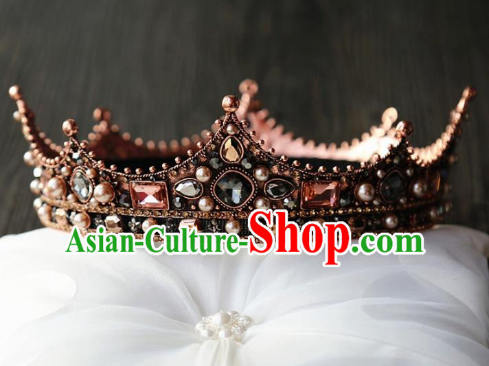 Top Grade Wedding Bride Hair Accessories Baroque Palace Queen Royal Crown for Women