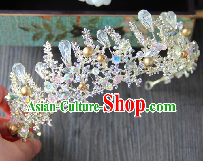 Top Grade Baroque Palace Princess Royal Crown Wedding Bride Hair Accessories for Women