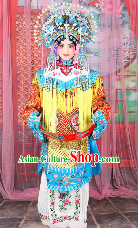 Professional Chinese Traditional Beijing Opera Imperial Consort Wedding Costumes and Phoenix Coronet for Adults