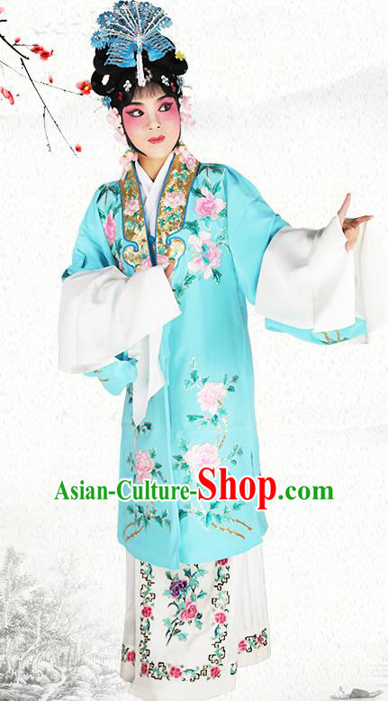 Professional Chinese Beijing Opera Actress Young Women Embroidered Costumes for Adults