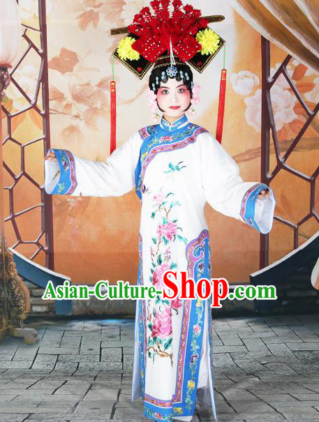 Professional Chinese Beijing Opera Qing Dynasty Manchu Imperial Concubine Costumes and Headwear for Adults