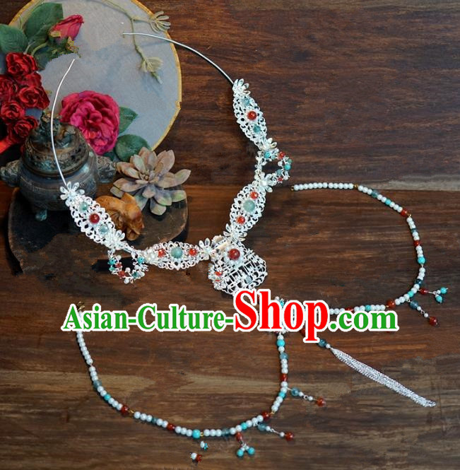 Top Grade Chinese Handmade Jewelry Accessories Ancient Hanfu Necklace for Women