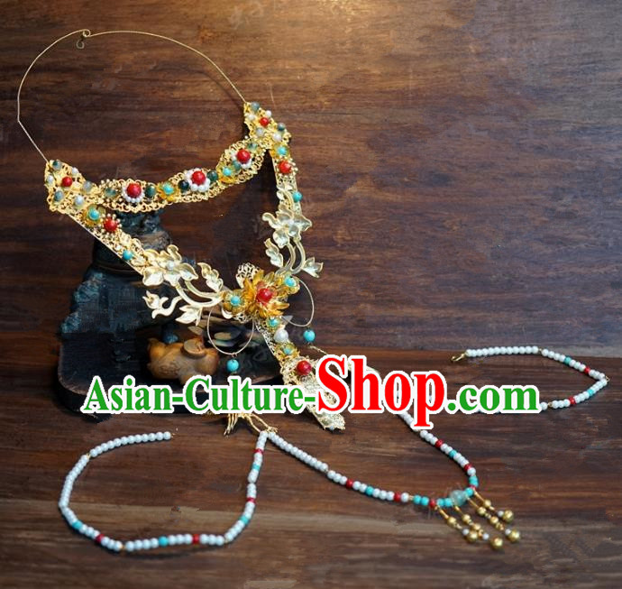 Top Grade Chinese Handmade Jewelry Accessories Ancient Palace Lady Hanfu Necklace for Women