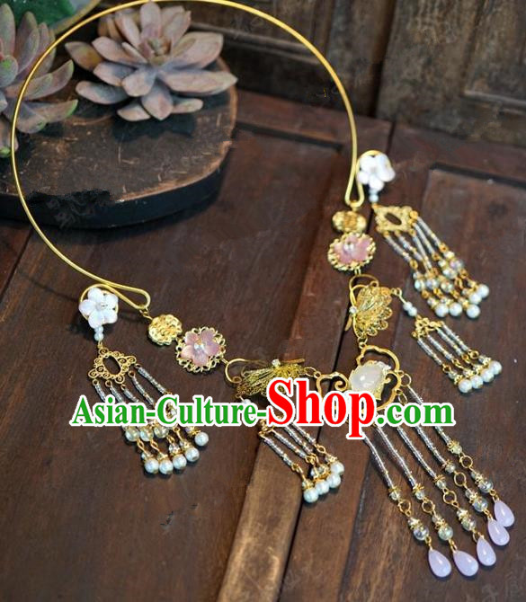 Chinese Handmade Necklace Ancient Bride Hanfu Necklet Jewelry Accessories for Women