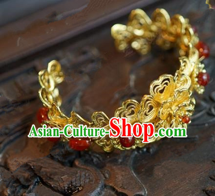 Top Grade Chinese Handmade Jewelry Accessories Ancient Palace Lady Hanfu Agate Bracelet for Women