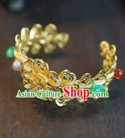Chinese Handmade Bracelet Ancient Bride Bangle Jewelry Accessories for Women