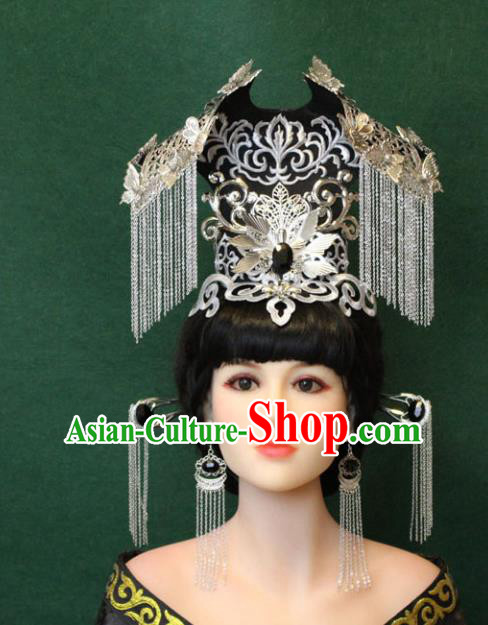 Chinese Ancient Handmade Queen Phoenix Coronet Hairpins Hair Accessories Step Shake Complete Set for Women