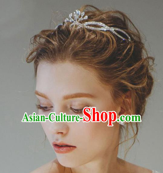 Handmade Baroque Bride Crystal Royal Crown Wedding Queen Hair Jewelry Accessories for Women