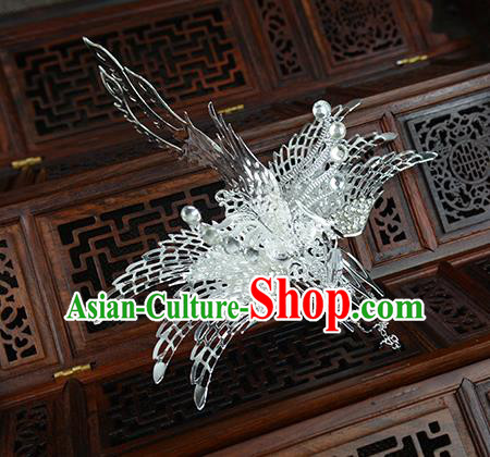 Chinese Ancient Handmade Phoenix Hair Comb Hairpins Bride Hair Accessories Headwear for Women
