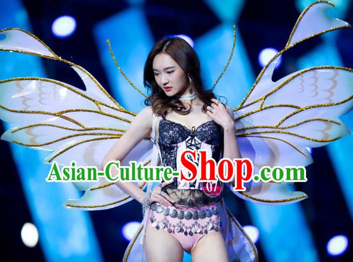 Top Grade Catwalks Swimsuit Wing Stage Performance Model Show Customized Butterfly Wings for Women
