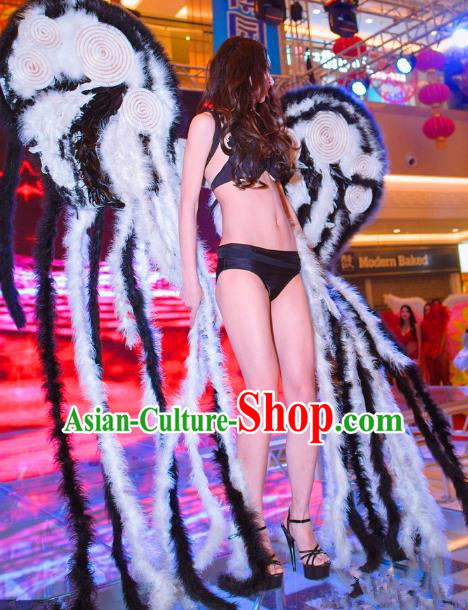 Top Grade Catwalks Miami Feathers Deluxe Wings Stage Performance Model Show Customized Wings for Women