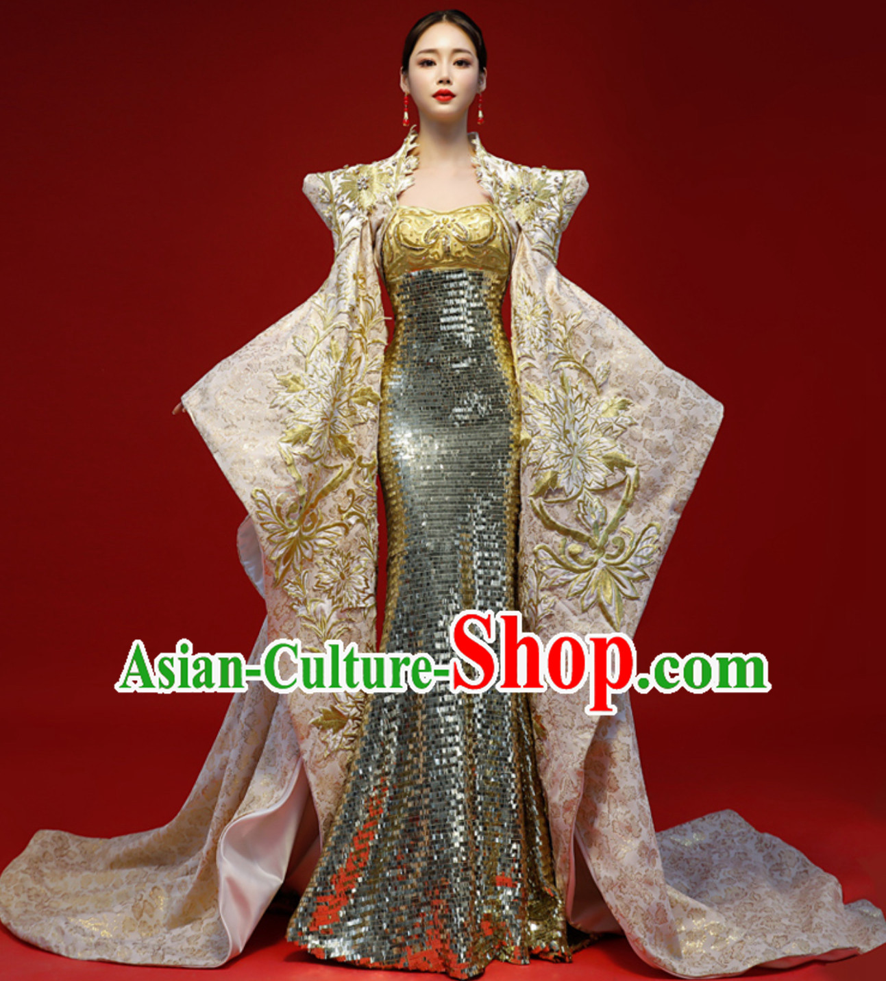 Asian Chinese Classical Empress Style Evening Dress