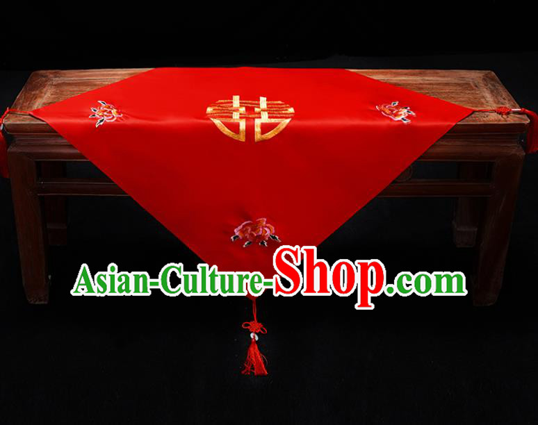Chinese Traditional Wedding Head Cover Ancient Bride Red Bridal Veil for Women