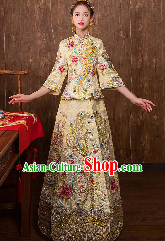 Traditional Chinese Wedding Costumes Traditional Xiuhe Suits Ancient Chinese bridal Full Dress