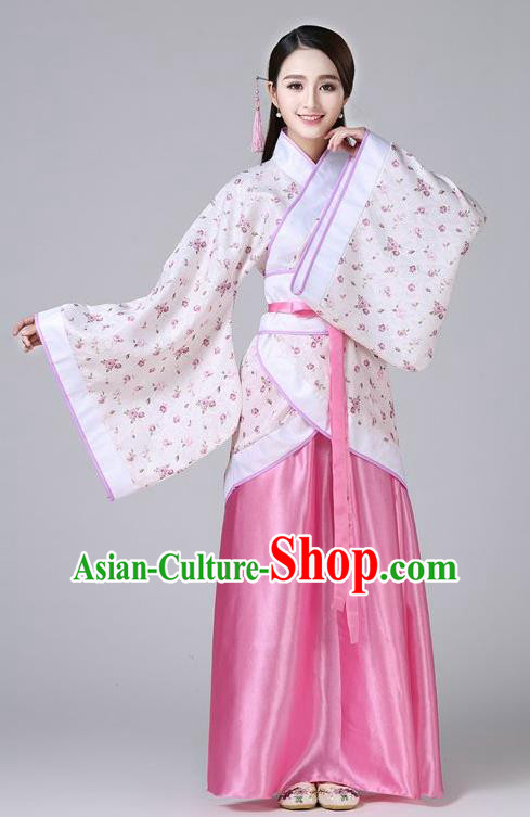 Chinese Ancient Drama Han Dynasty Princess Embroidered Hanfu Dress for Women