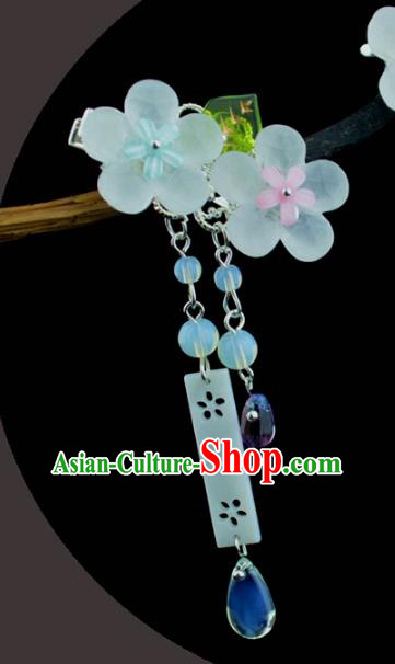 Chinese Traditional Ancient Hair Accessories Hanfu Flowers Hair Stick Headwear for Women