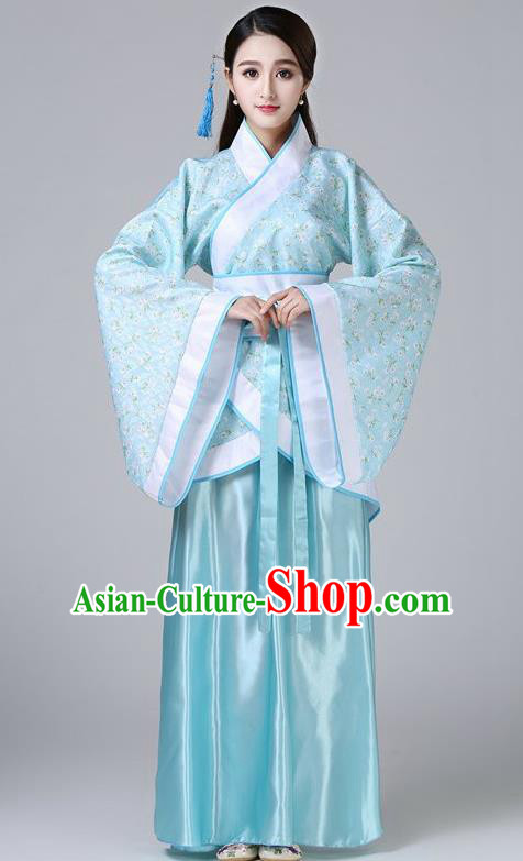Chinese Ancient Drama Imperial Concubine Embroidered Hanfu Dress Han Dynasty Palace Lady Costume for Women