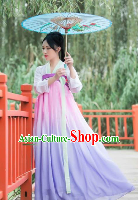 Chinese Ancient Fairy Princess Hanfu Dress Tang Dynasty Palace Lady Clothing for Women