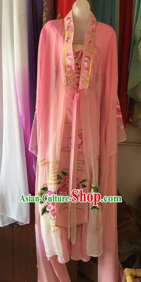 Chinese Traditional Peking Opera Nobility Lady Pink Dress Beijing Opera Diva Costumes for Adults