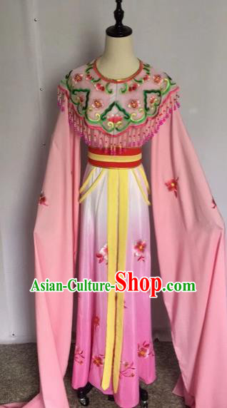 Chinese Traditional Peking Opera Princess Pink Dress Beijing Opera Diva Costumes for Adults