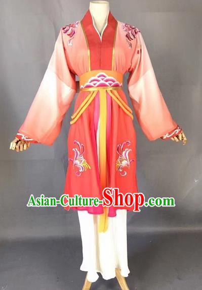 Chinese Traditional Beijing Opera Maidservant Red Dress Peking Opera Diva Costumes for Adults