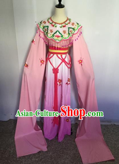 Chinese Traditional Peking Opera Actress Water Sleeve Dress Beijing Opera Princess Embroidered Costumes for Adults