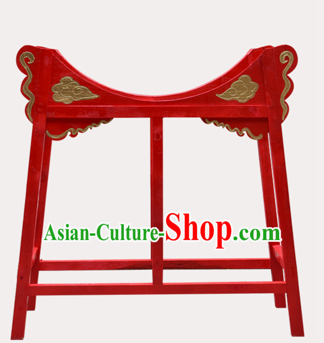 Traditional Handmade Chinese Classical Wooden Drum Cart Drum Stand Drum Accessories