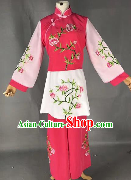 Chinese Peking Opera Mui Tsai Clothing Traditional Beijing Opera Young Lady Embroidered Costumes for Adults