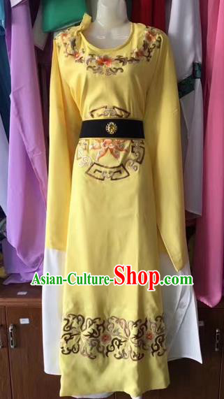 Chinese Traditional Beijing Opera Scholar Clothing Peking Opera Niche Yellow Robe for Adults