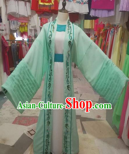 Chinese Traditional Beijing Opera Scholar Green Clothing Peking Opera Niche Robe for Adults