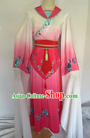 Chinese Ancient Peking Opera Court Maid Embroidered Dress Traditional Beijing Opera Diva Costumes for Adults
