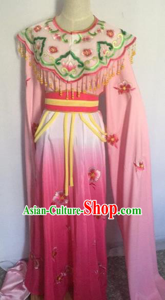 Chinese Ancient Peking Opera Young Lady Pink Dress Traditional Beijing Opera Diva Costumes for Adults