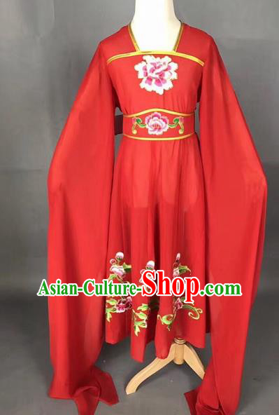 Traditional Chinese Peking Opera Diva Costume Beijing Opera Red Dress for Kids