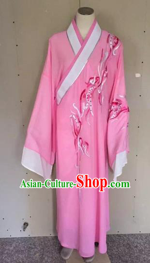 Chinese Traditional Beijing Opera Scholar Rosy Robe Peking Opera Niche Clothing for Adults