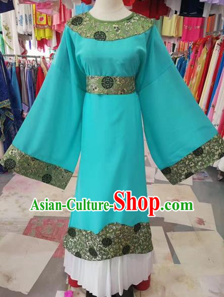 Chinese Beijing Opera Niche Green Robe Traditional Peking Opera Prince Costume for Adults