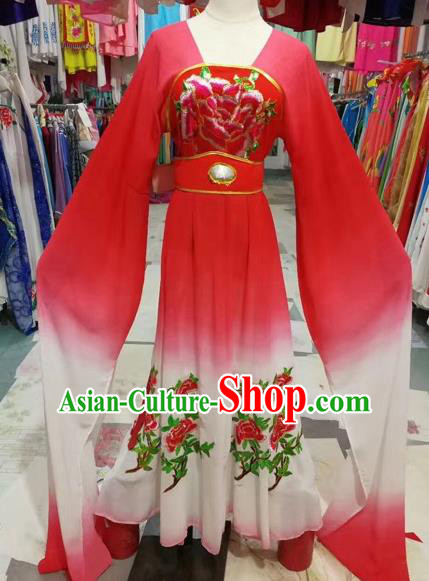 Traditional Chinese Peking Opera Princess Costume Beijing Opera Diva Fairy Red Dress for Adults
