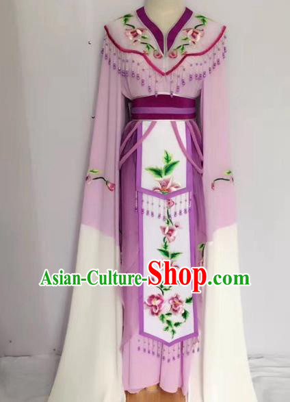 Traditional Chinese Peking Opera Princess Fairy Purple Dress Beijing Opera Diva Costume for Adults