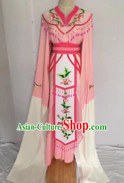 Traditional Chinese Peking Opera Princess Fairy Pink Dress Beijing Opera Diva Costume for Adults