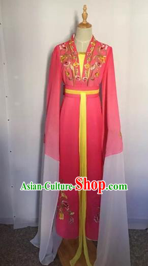 Chinese Peking Opera Princess Fairy Rosy Dress Traditional Beijing Opera Diva Costume for Adults