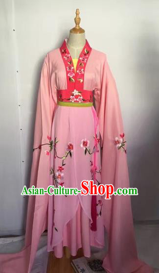 Chinese Peking Opera Fairy Pink Dress Traditional Beijing Opera Diva Costume for Adults