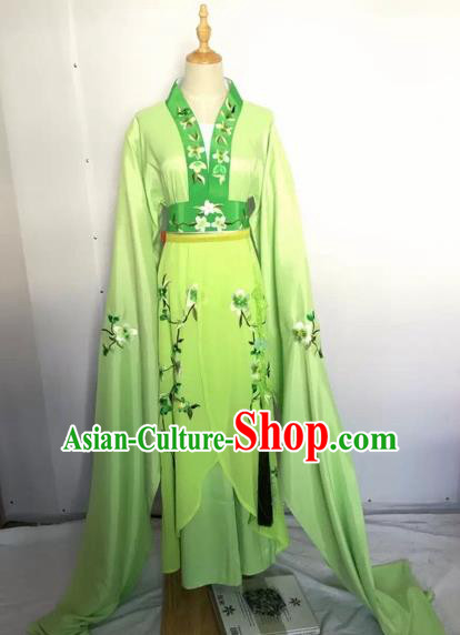 Chinese Peking Opera Fairy Green Dress Traditional Beijing Opera Diva Costume for Adults