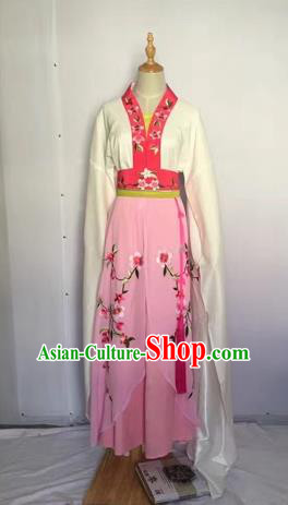 Chinese Huangmei Opera Fairy Pink Dress Traditional Beijing Opera Diva Costume for Adults