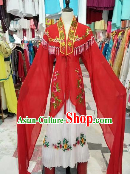 Chinese Shaoxing Opera Princess Red Dress Traditional Beijing Opera Diva Costume for Adults