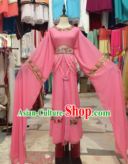 Chinese Shaoxing Opera Pink Dress Traditional Beijing Opera Diva Costume for Adults