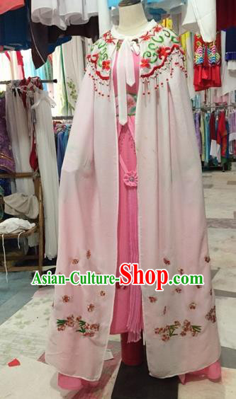 Chinese Shaoxing Opera Embroidered Cloak Traditional Beijing Opera Diva Costume for Adults