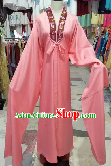 Chinese Beijing Opera Niche Pink Silk Robe Traditional Peking Opera Costume for Adults